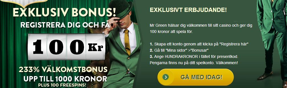 mr green 100kr