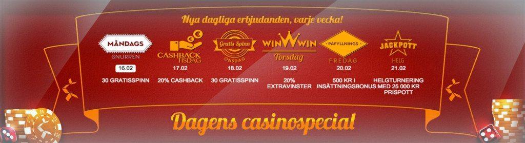 Dagens Casino Special