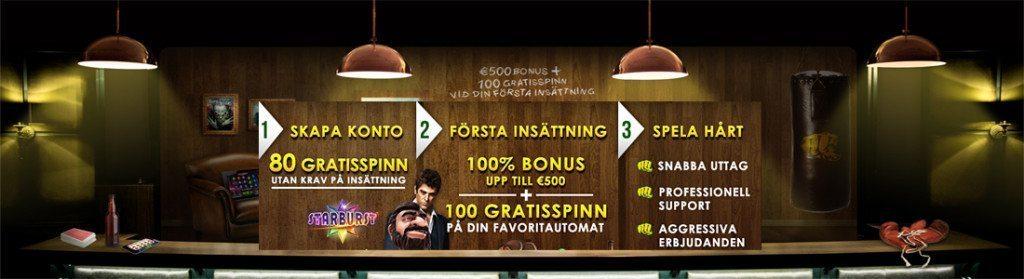 80 free spins gratis
