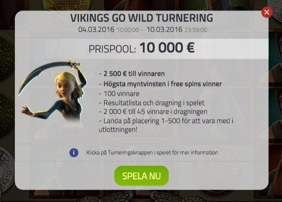 Viking Go Wild turneringen