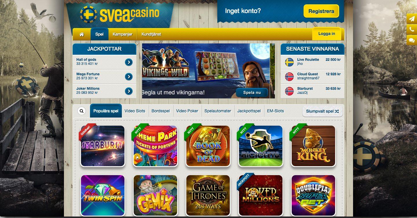 sveacasino ett svenskt casino