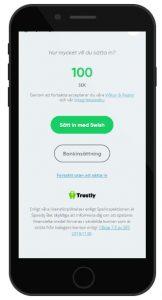 Trustly är vanlig betalningsmetod för att få freespins