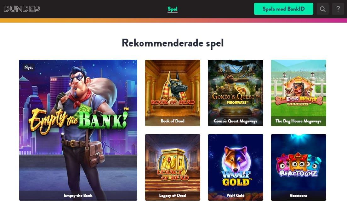 Dunder Casinolobby