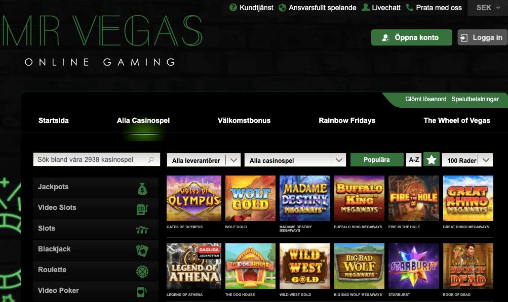 Mr Vegas casino lobby